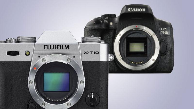 dlsr 1 مقایسه دوربینهای DSLR و بدون آینه (CSC) از نظر حجم و وزن