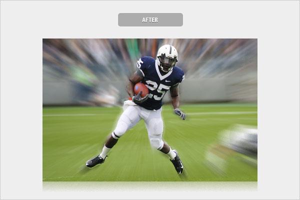 zoom blur1 ایجاد افکت zoom blur در عکاسی