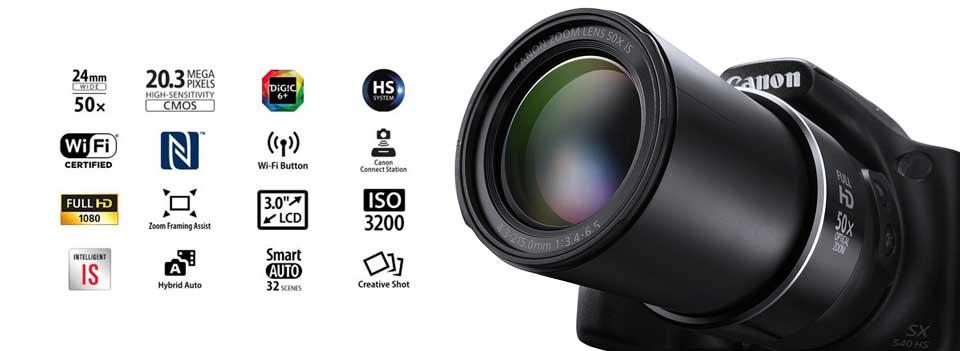 PowerShot SX540 HS 2 معرفی دوربین ديجيتال کانن مدل PowerShot SX540 HS